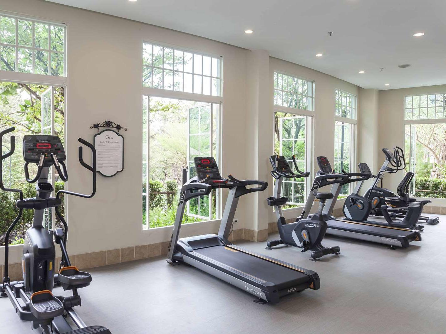 Gym with garden view at U Hotels and Resorts