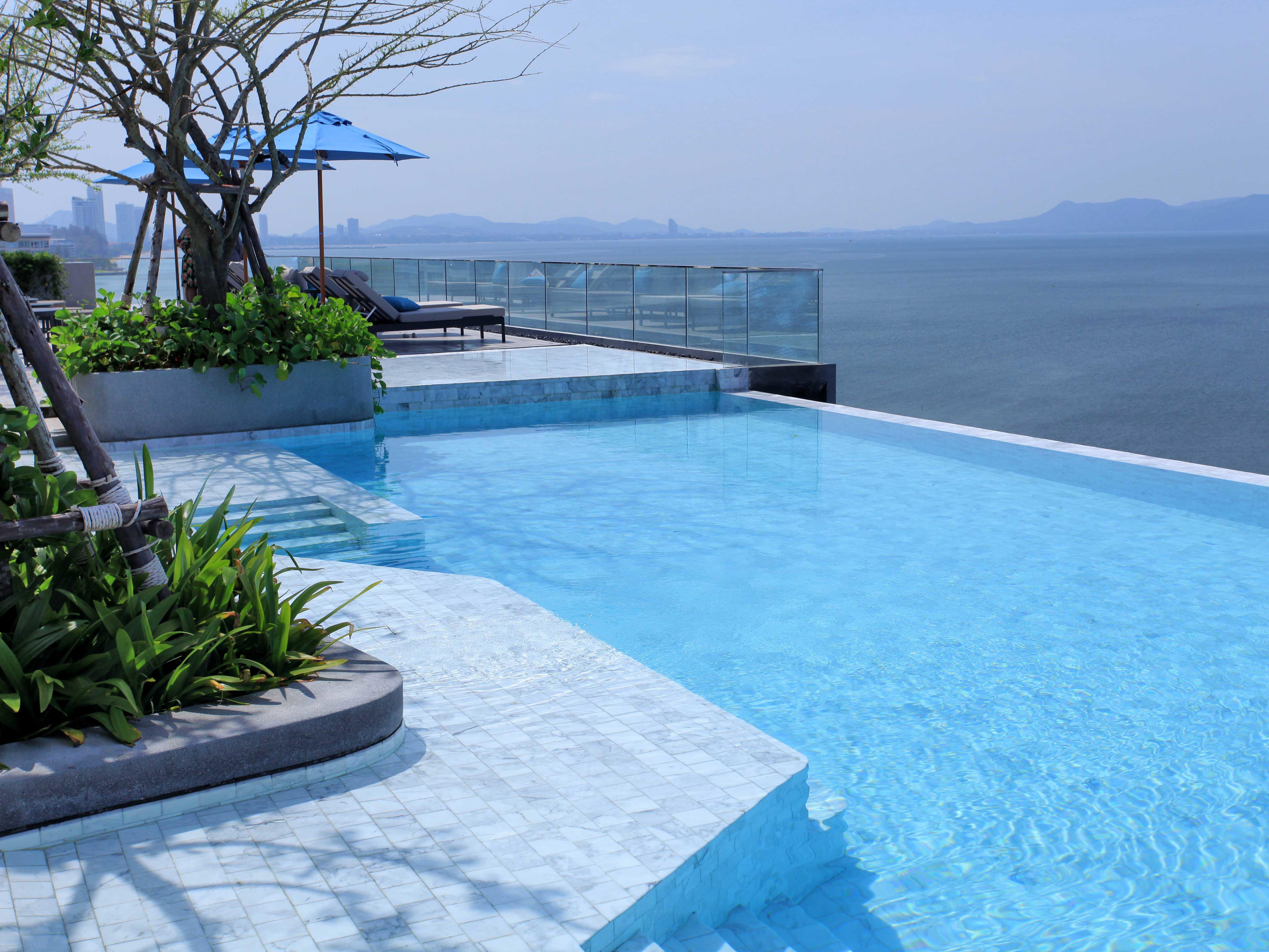 Rooftop Swimming Pool with sea view at U Hotels and Resorts