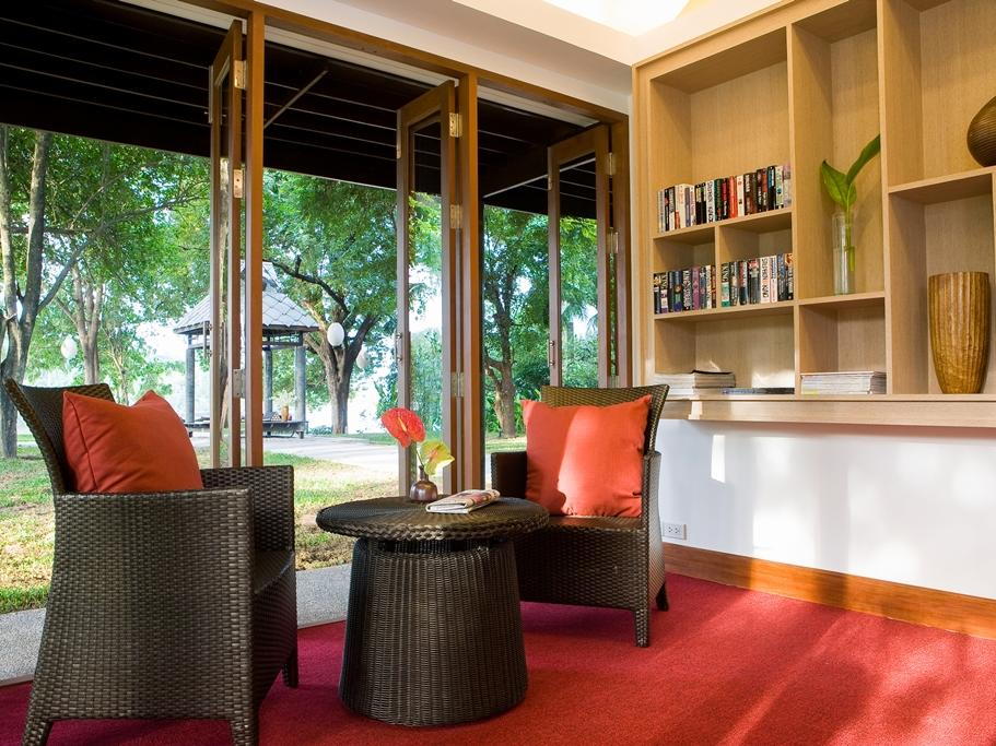 Library with garden view at U Hotels and Resorts