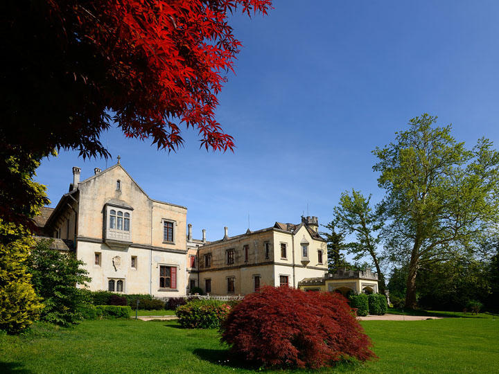 Park at Castello dal Pozzo in Oleggio Castello, Italy