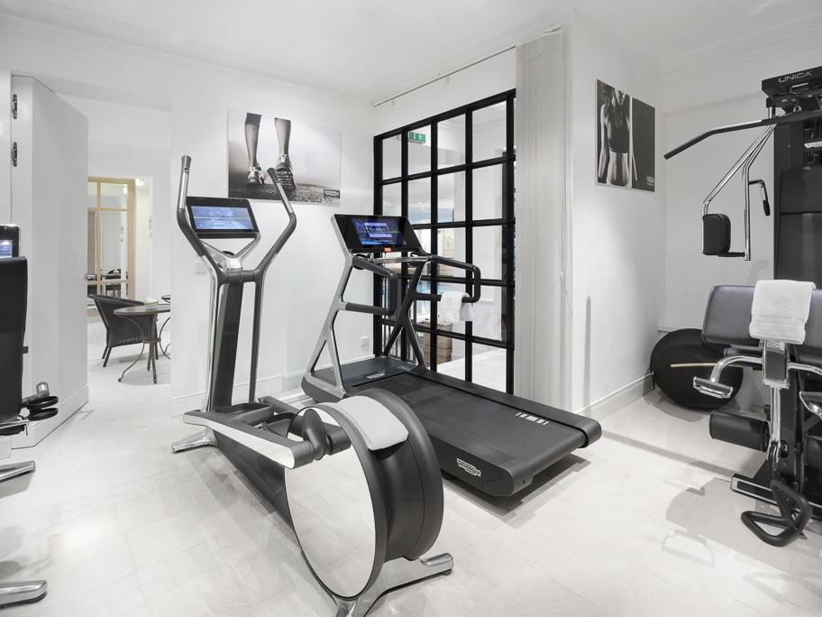 Treadmills at the gym in Patrick Hellman Schlosshotel