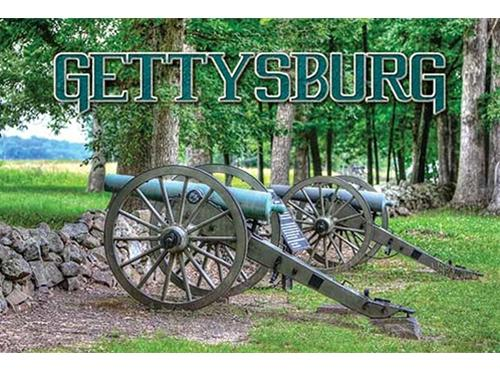 cannons with the text gettysburg