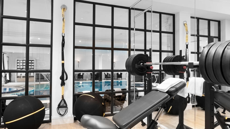 Gym at Schlosshotel Berlin by Patrick Hellmann