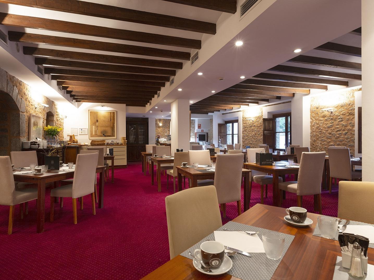 Breakfast buffet at Gran Hotel Sóller in Sóller, Majorca