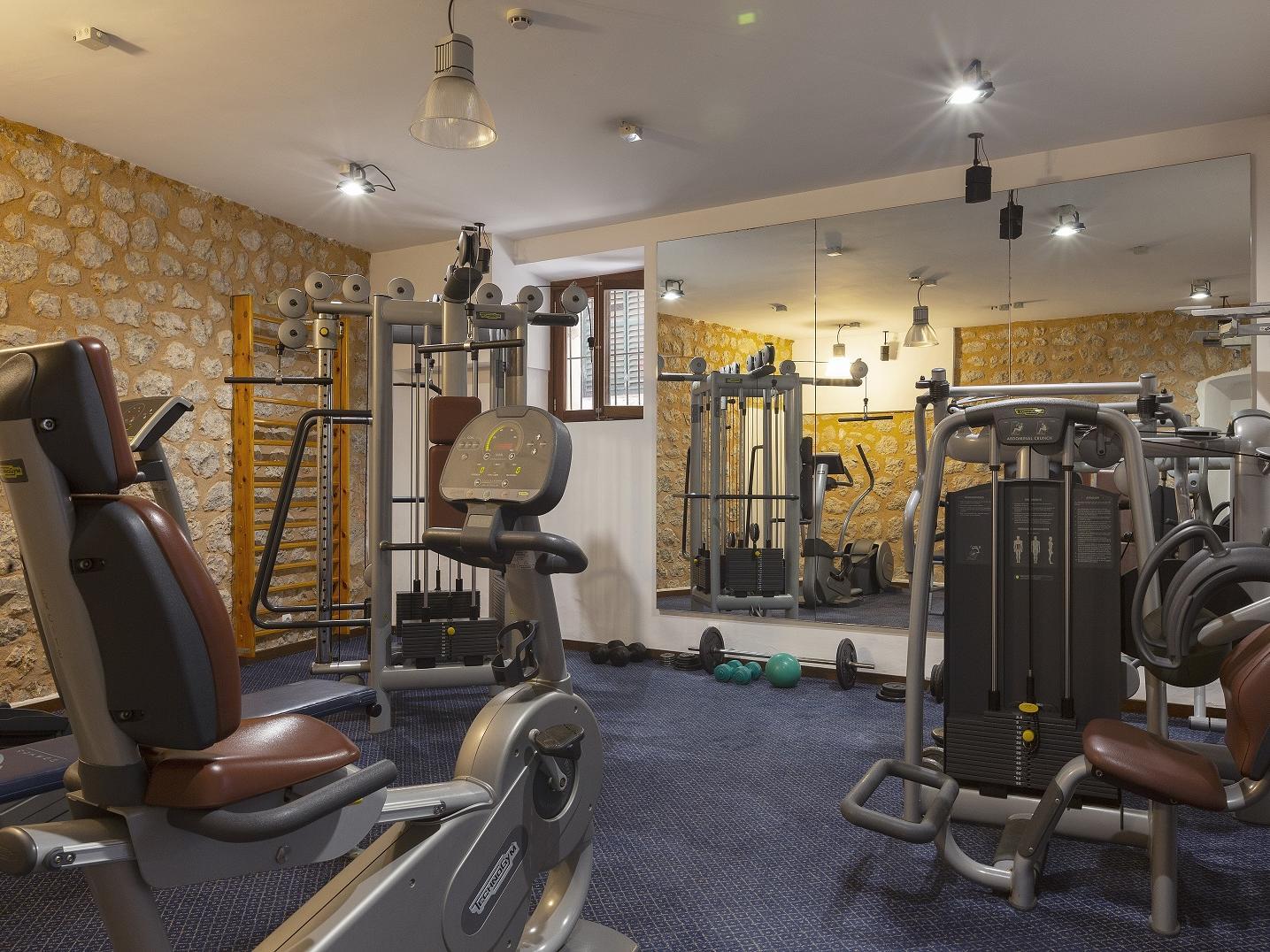 Fitness center at Gran Hotel Sóller in Sóller, Majorca