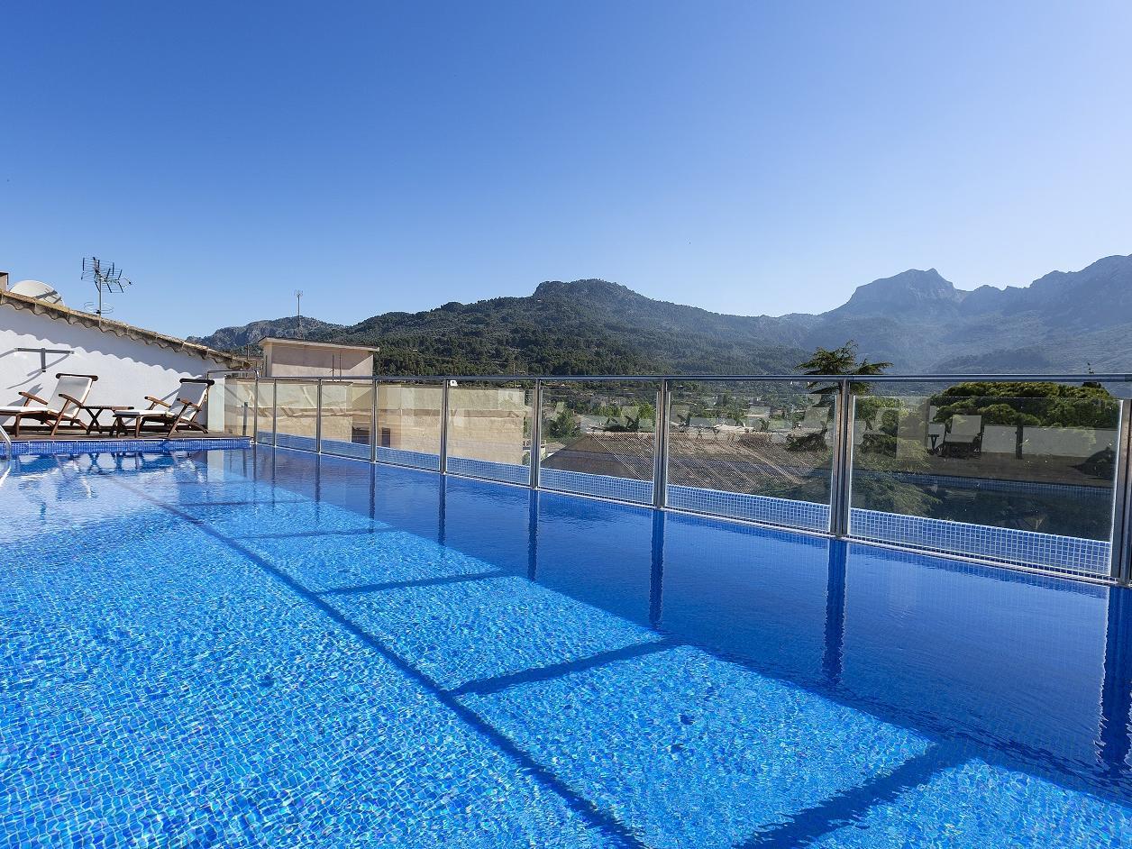 Rooftop pool at Gran Hotel Sóller in Sóller, Majorca