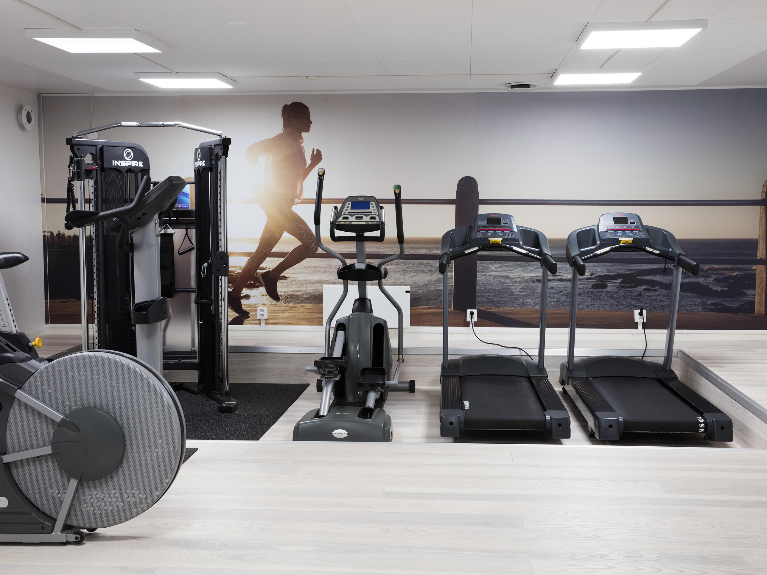 Gym at Welcome Hotel in Järfälla, Sweden