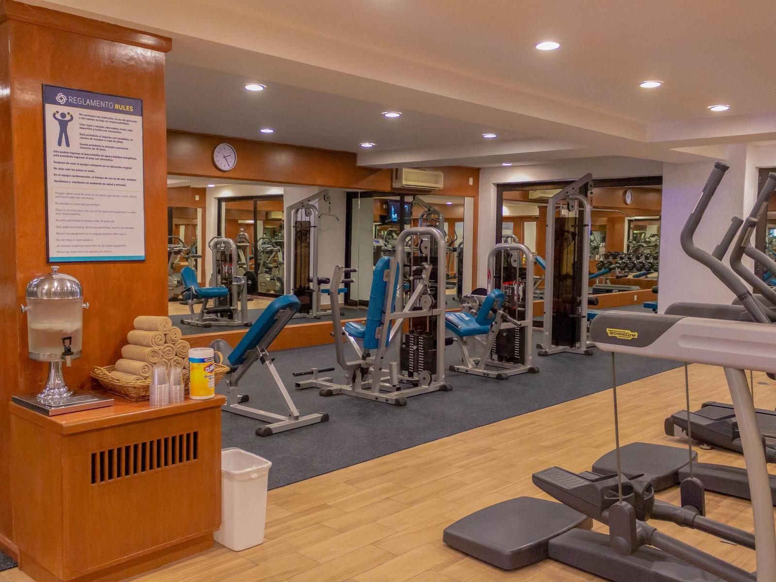 Gym at Plaza Pelicanos Grand Beach Resort Hotel