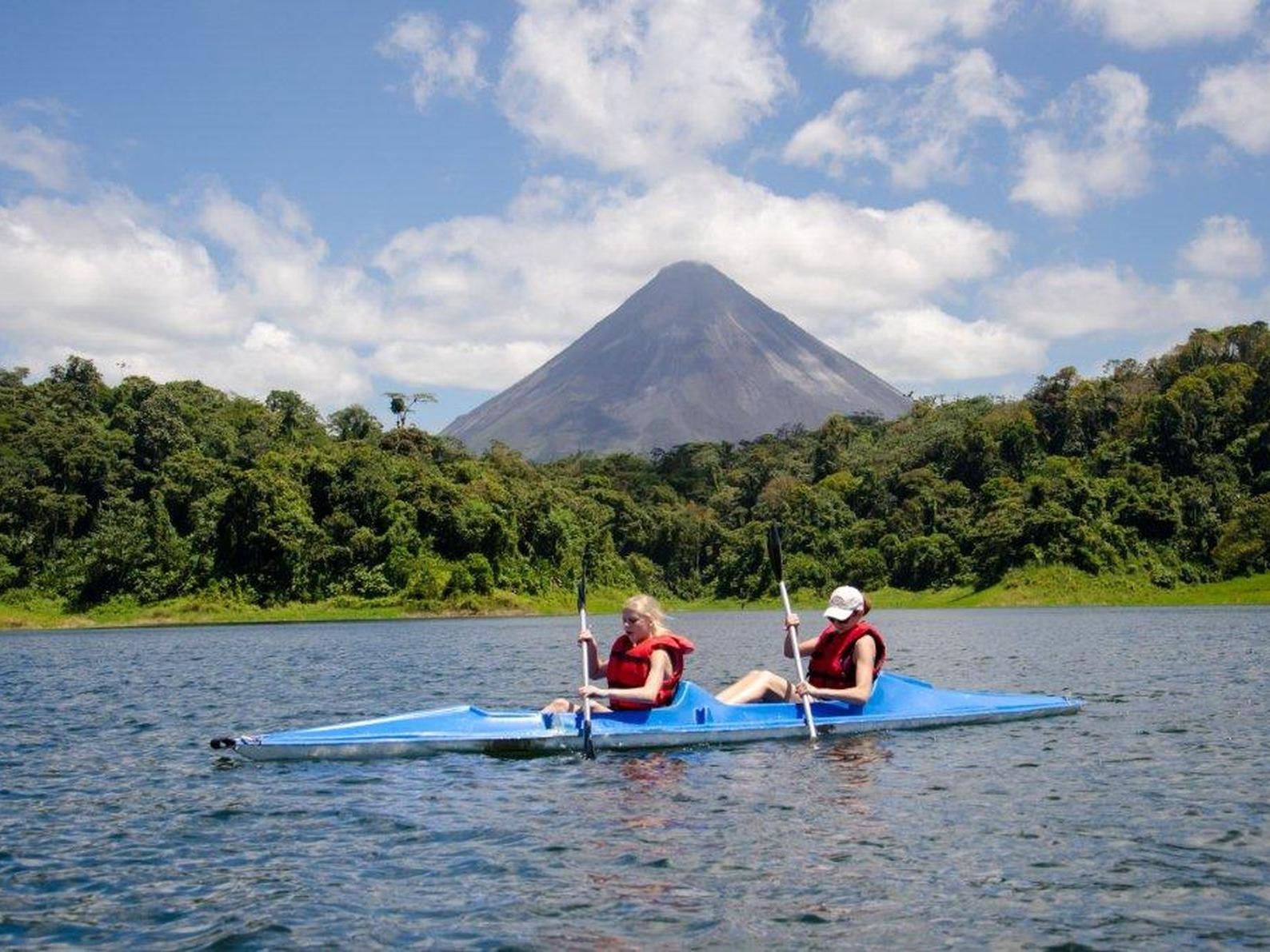Kayaking on Arenal Lake