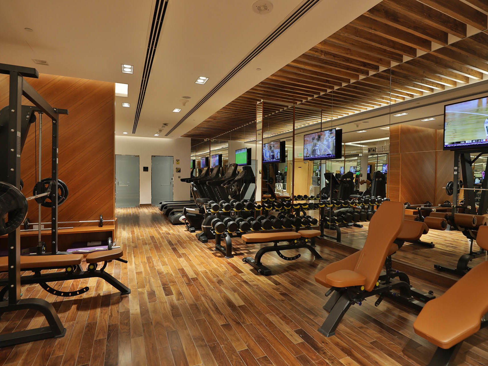 Fitness center at VIP Hotel in Doha