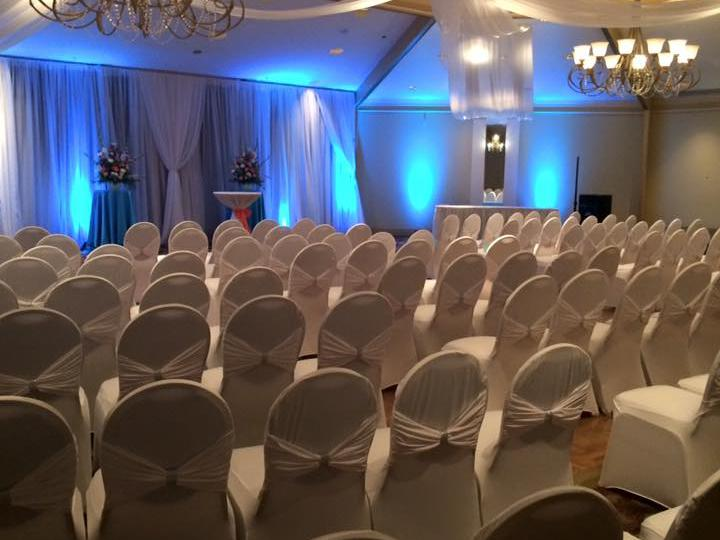 indoor wedding venue with seats