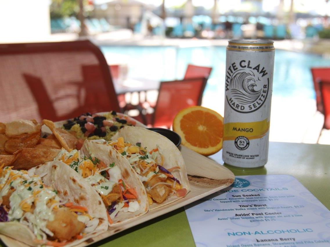 tacos and mango white claw