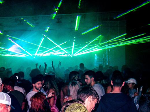 lights at club