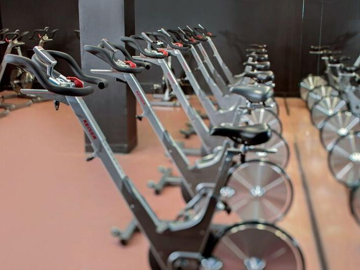 Gym and the fitness center at Westford Regency