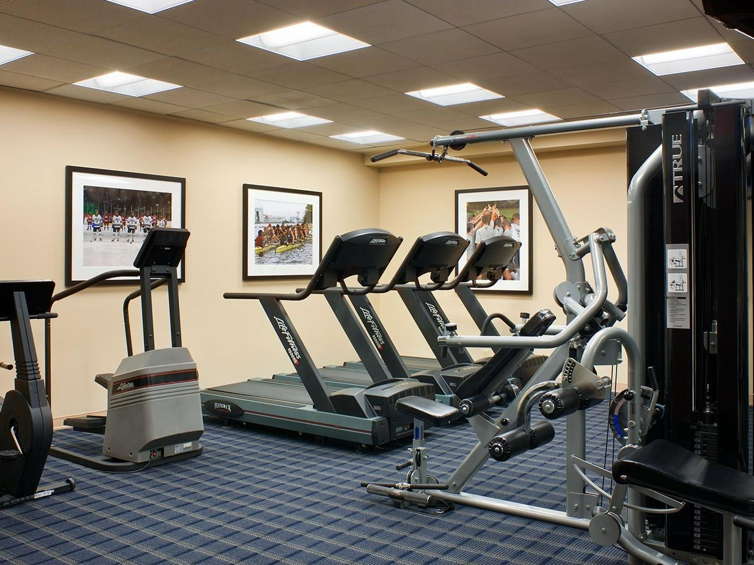 Fitness Center with multiple machines