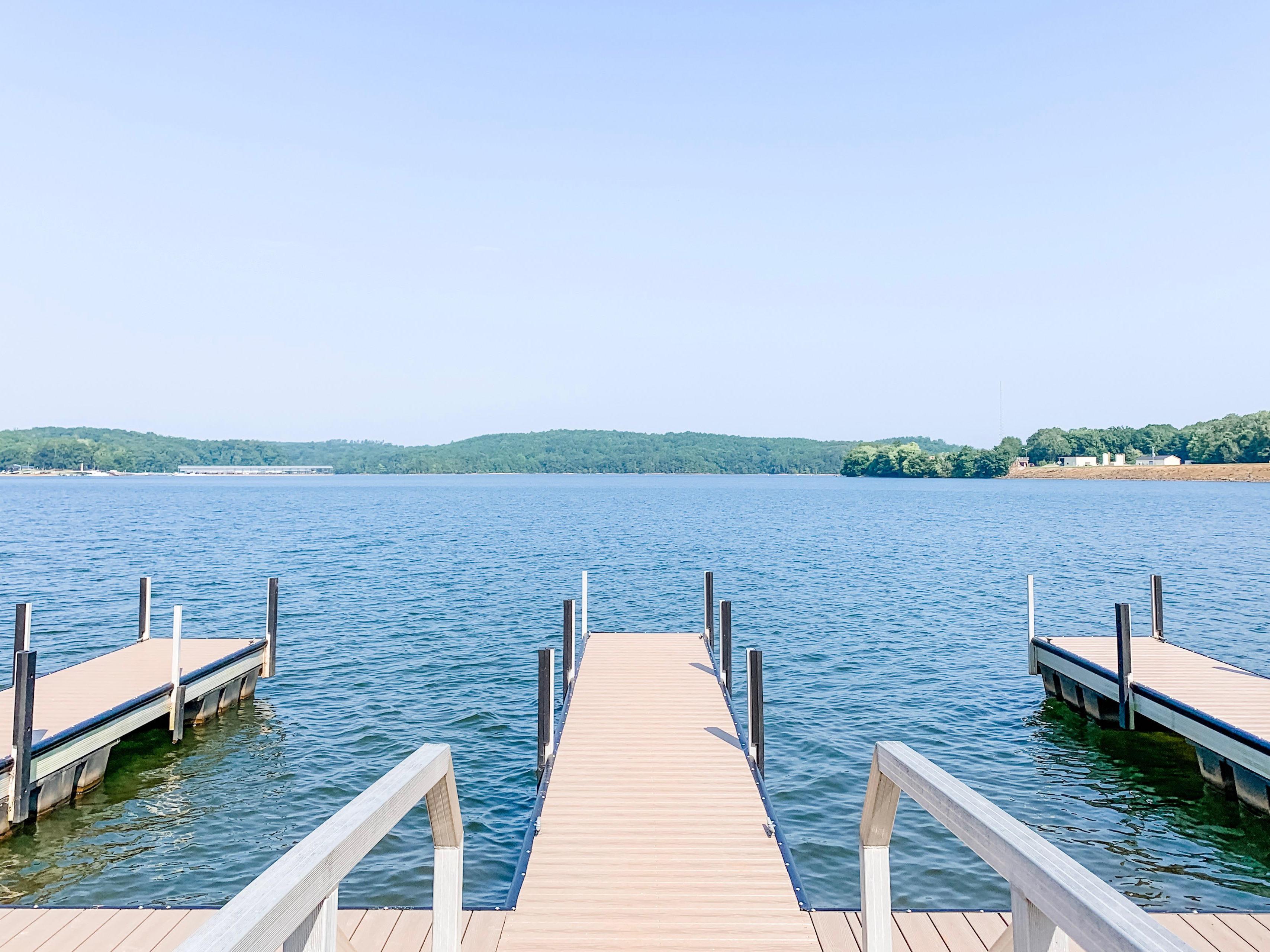 boat dock on Lake Hartwell