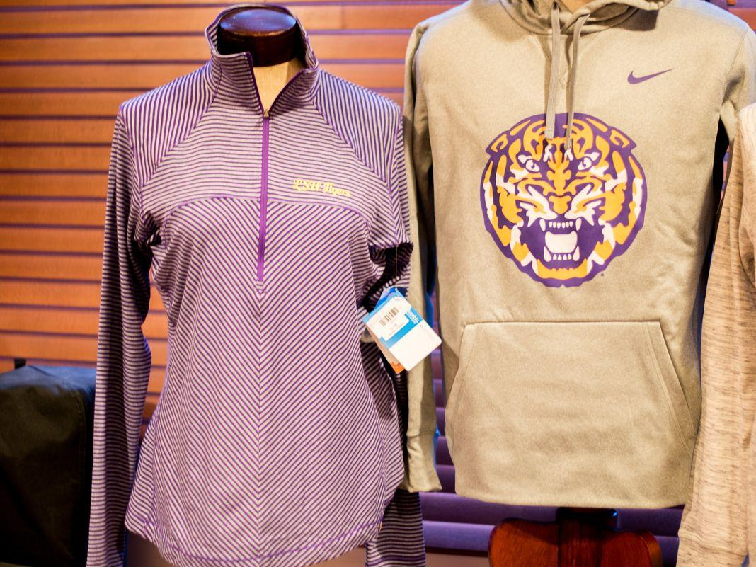 LSU swag at Cook Hotel gift shop