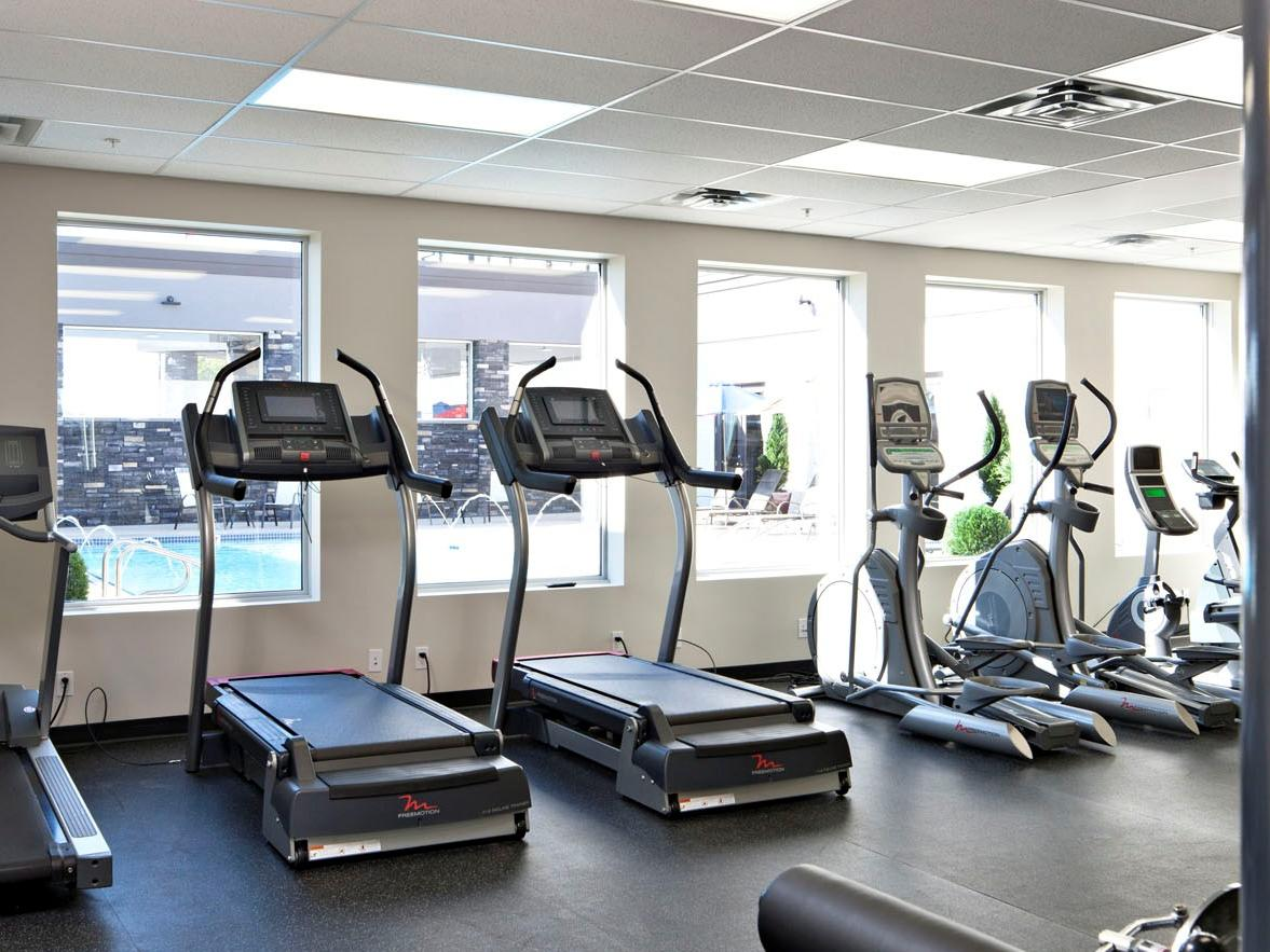 treadmills and workout equipment
