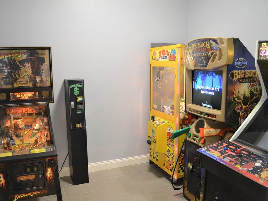 Video & Arcade Games in Game Room