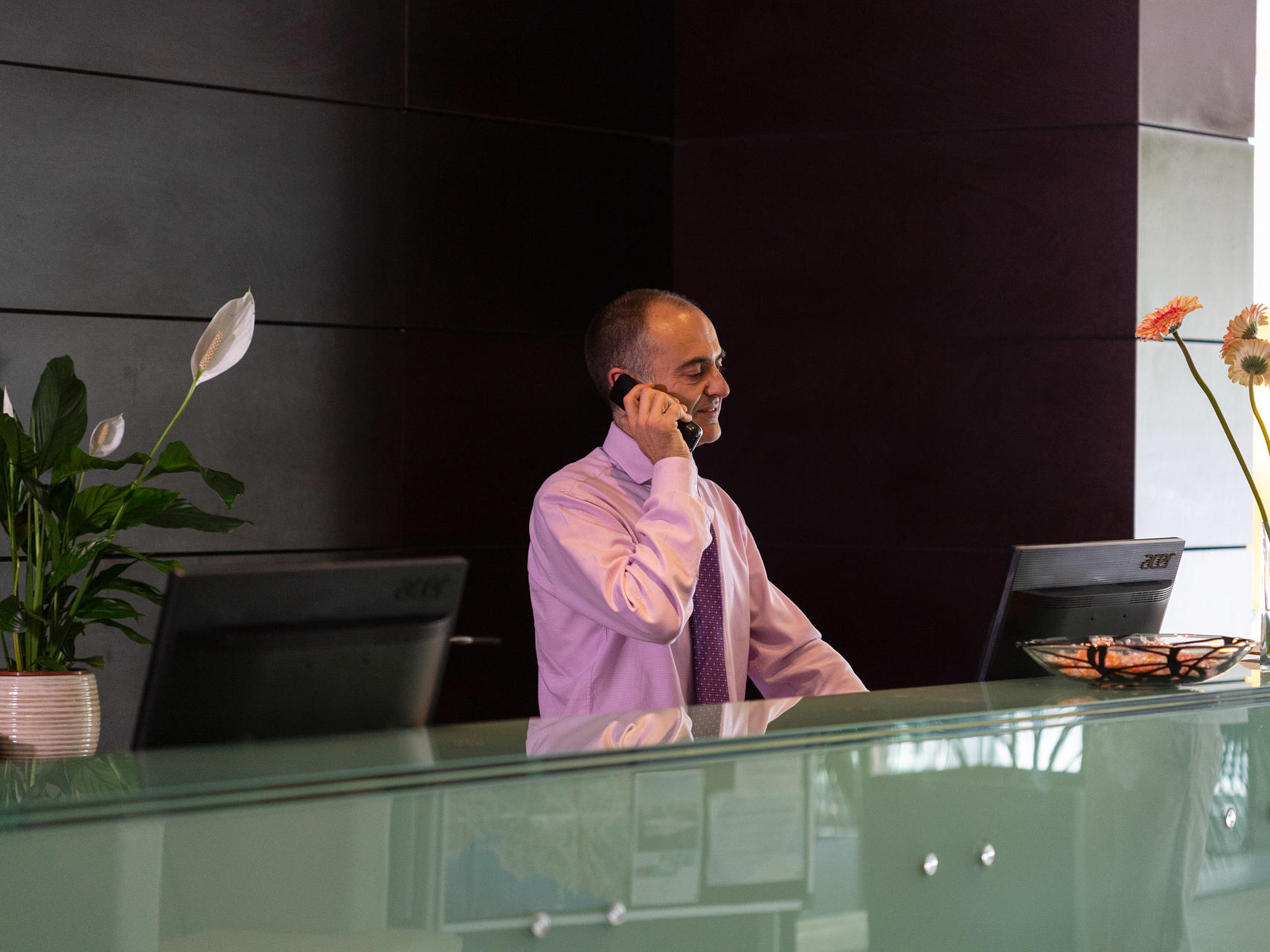 Front Desk and Lobby - Aimia Hotel Soller