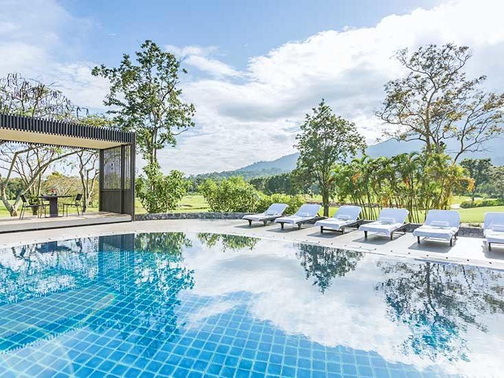 View of swimming pool at Chatrium Golf Soi Dao Chanthaburi