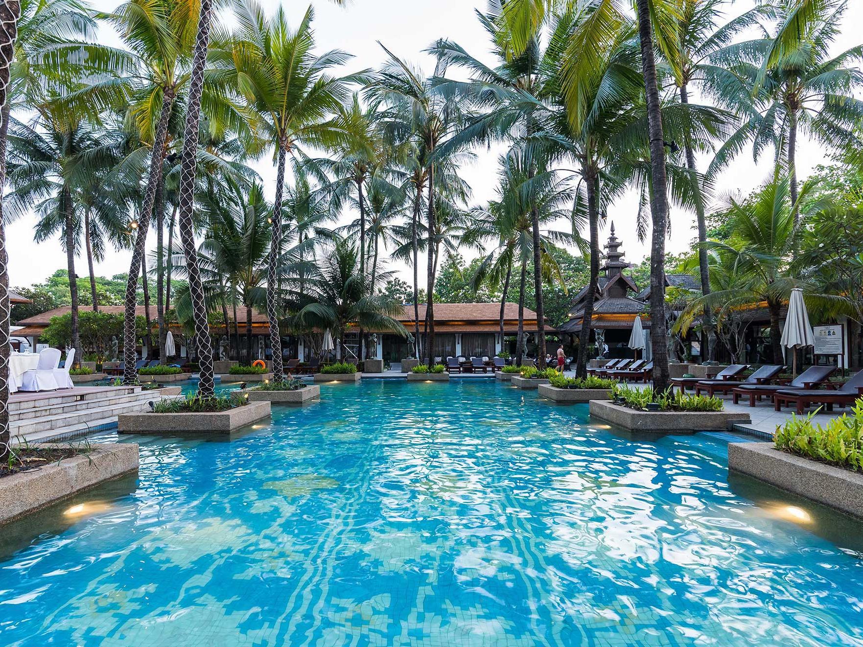 View of a Pool garden at Chatrium Hotel Royal Lake Yangon