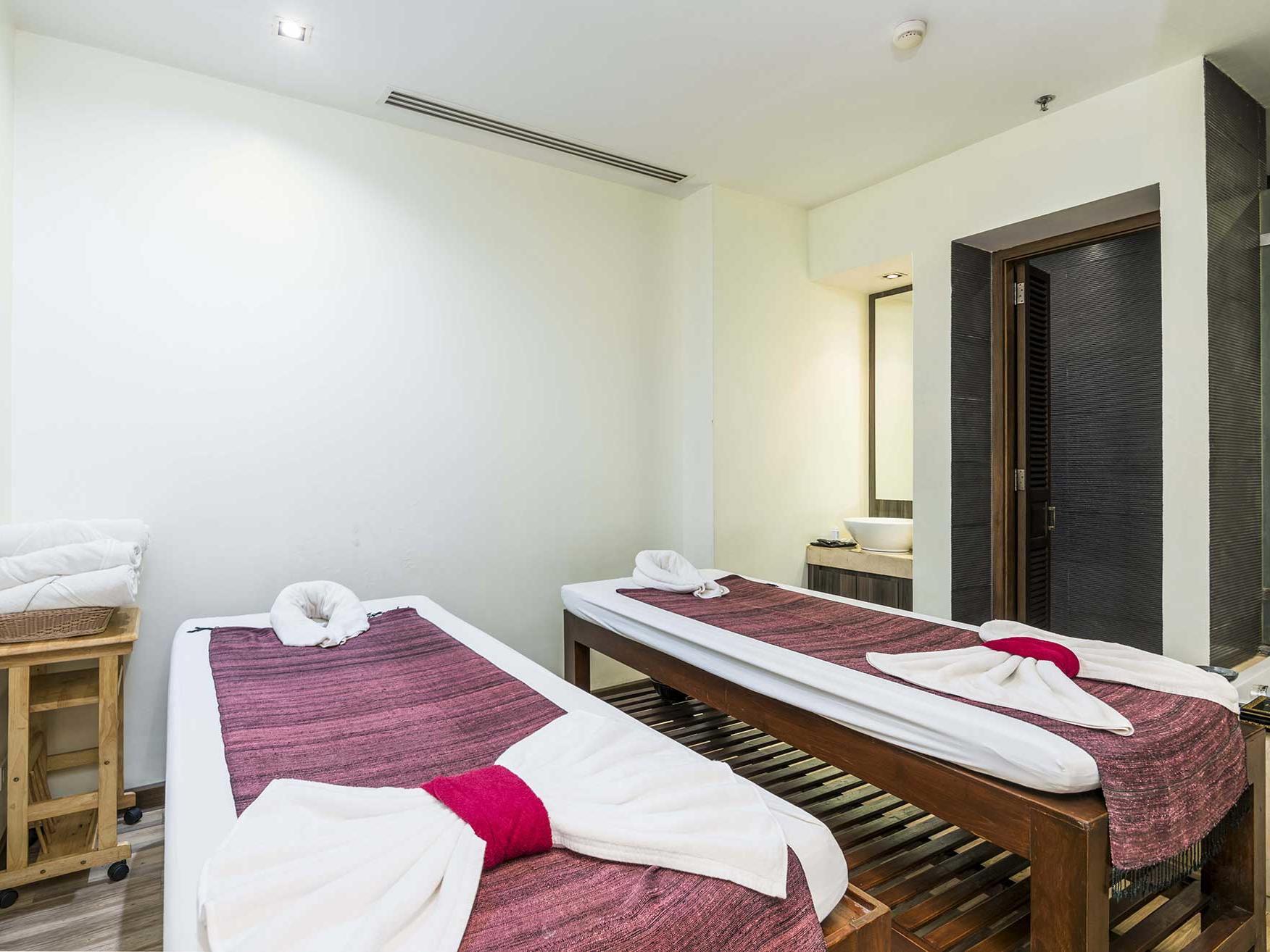 View of a Nemita spa at Chatrium Hotel Royal Lake Yangon
