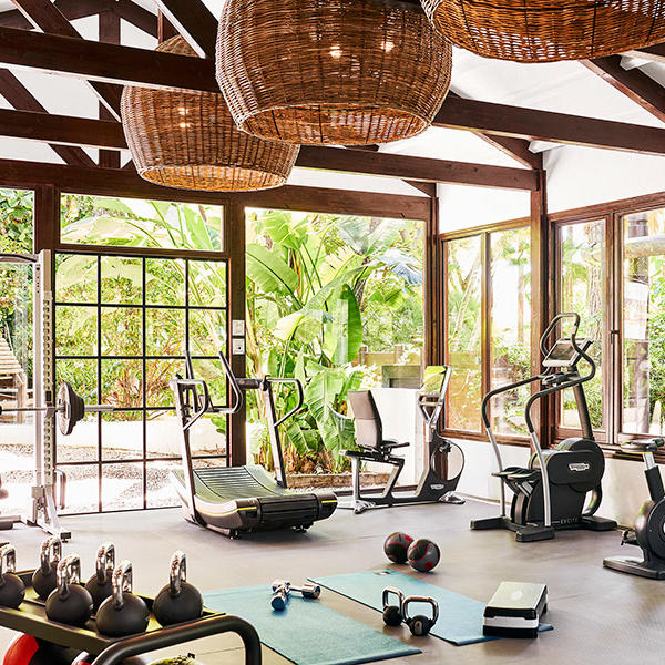 Fitness center at Marbella Club