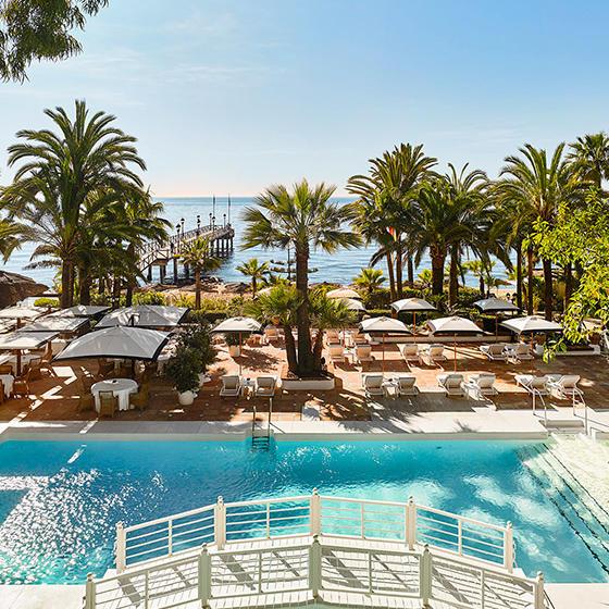 Exterior pool view at Marbella Club