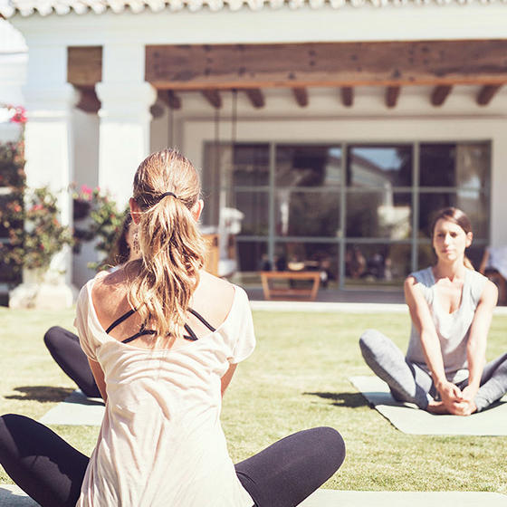 Yoga class at Marbella Club