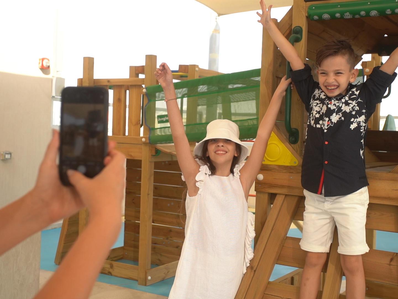 Outdoor Children Playground at Grand Cosmopolitan Hotel in Dubai