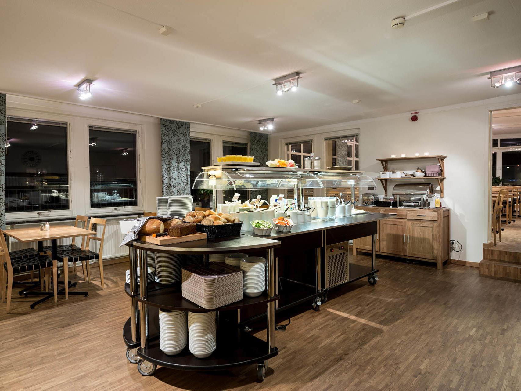 Buffet breakfast at Hotel Tegnérlunden in Stockholm
