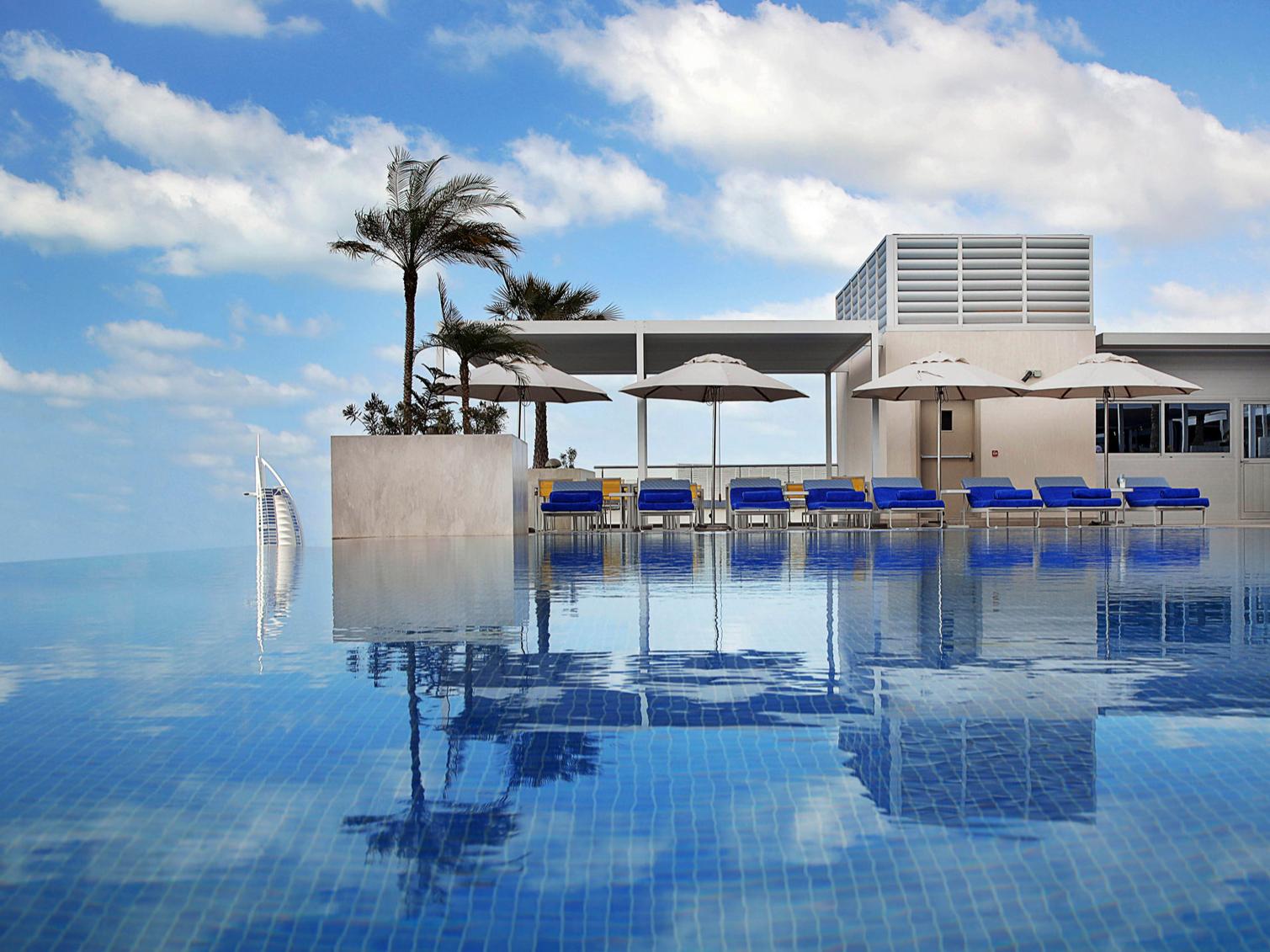 Infinity Pool at Grand Cosmopolitan Hotel in Dubai