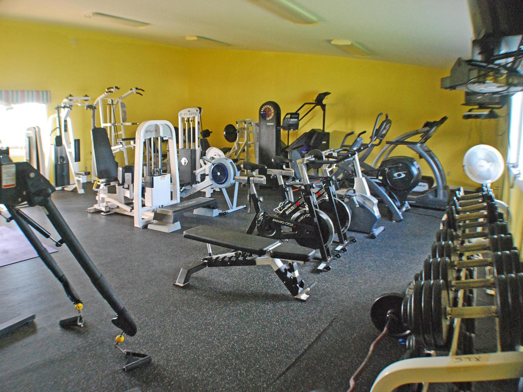 Fitness center at Tamarind Reef Resort
