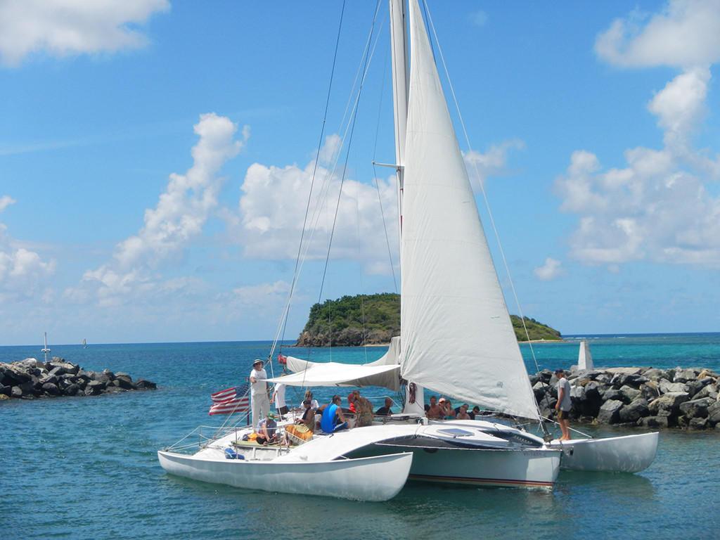People in Sailing Charter Torero at Tamarind Reef Resort