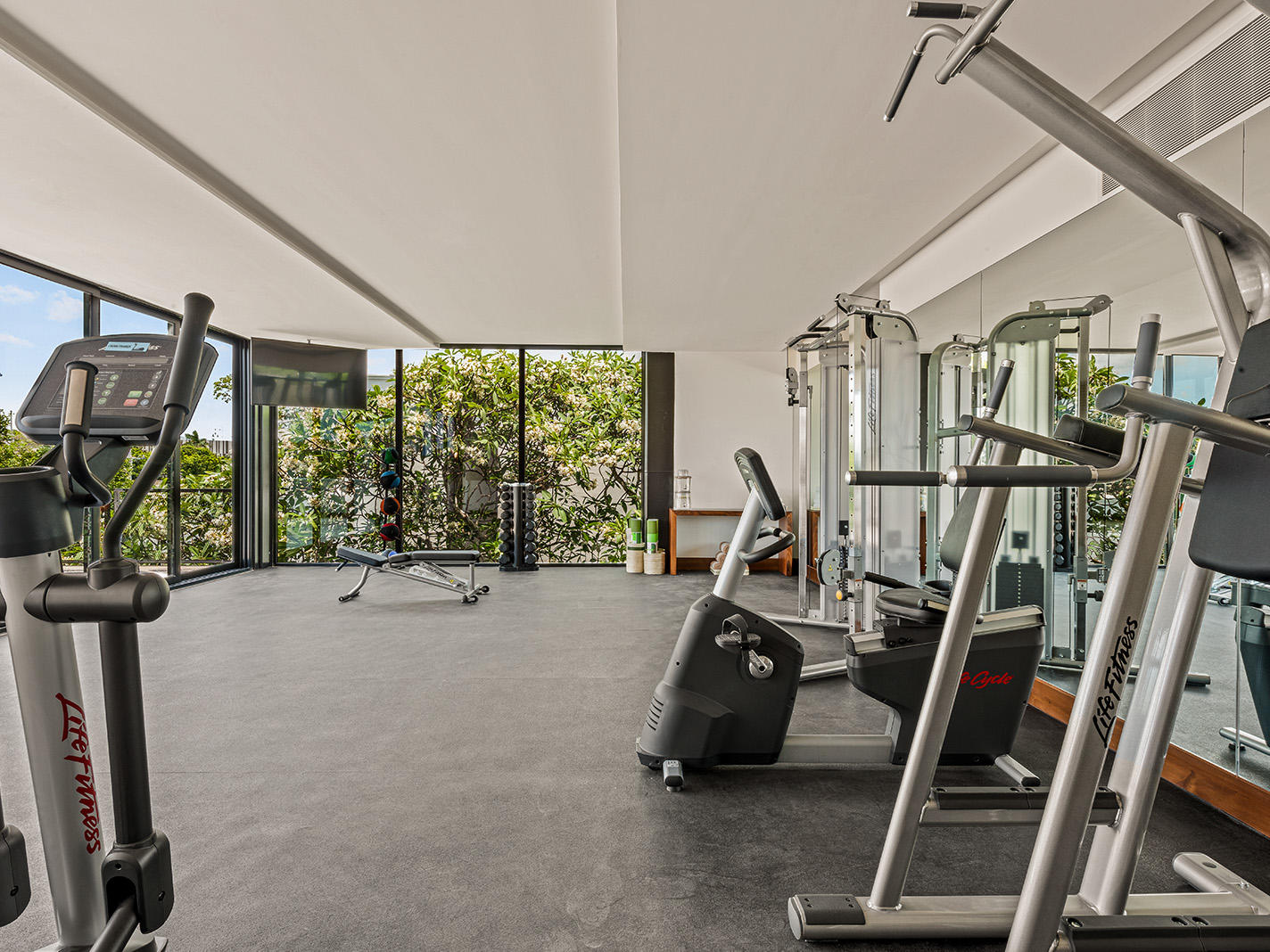 Gym and fitness center at Wayam Mundo Imperial