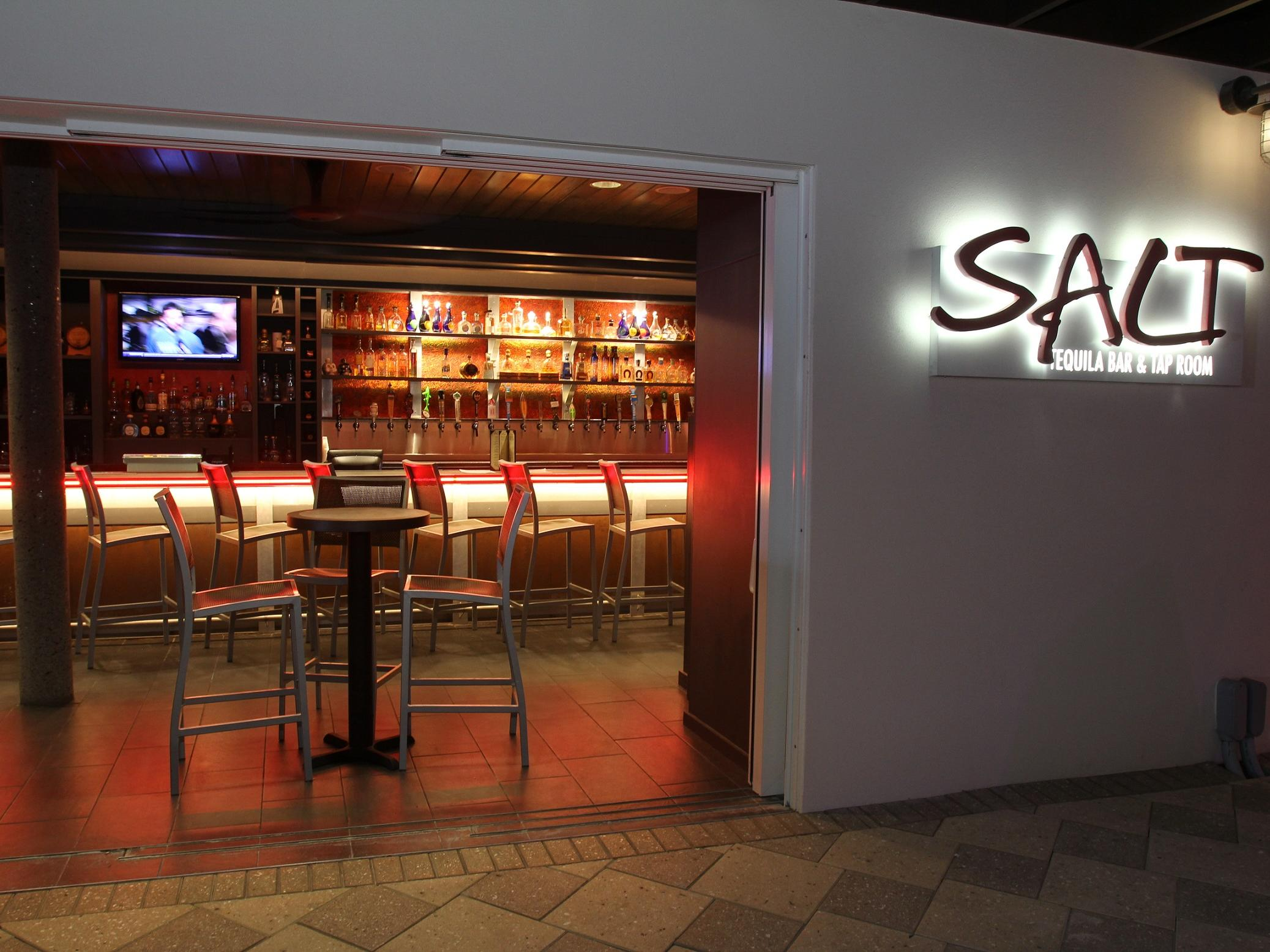 Entrance of Salt Tequila Bar in Shephard's Beach Resort