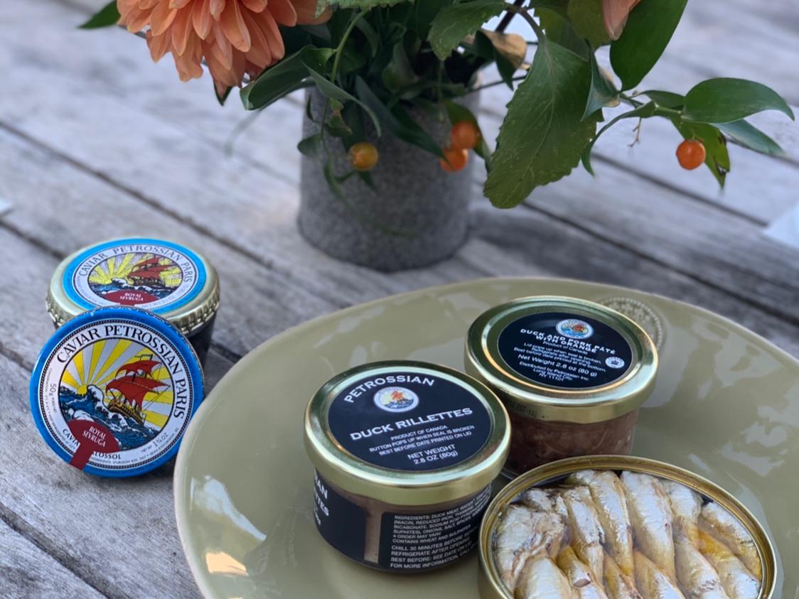 Petrossian Caviar at The Roundtree, Amagansett, Hotel in Hamptons