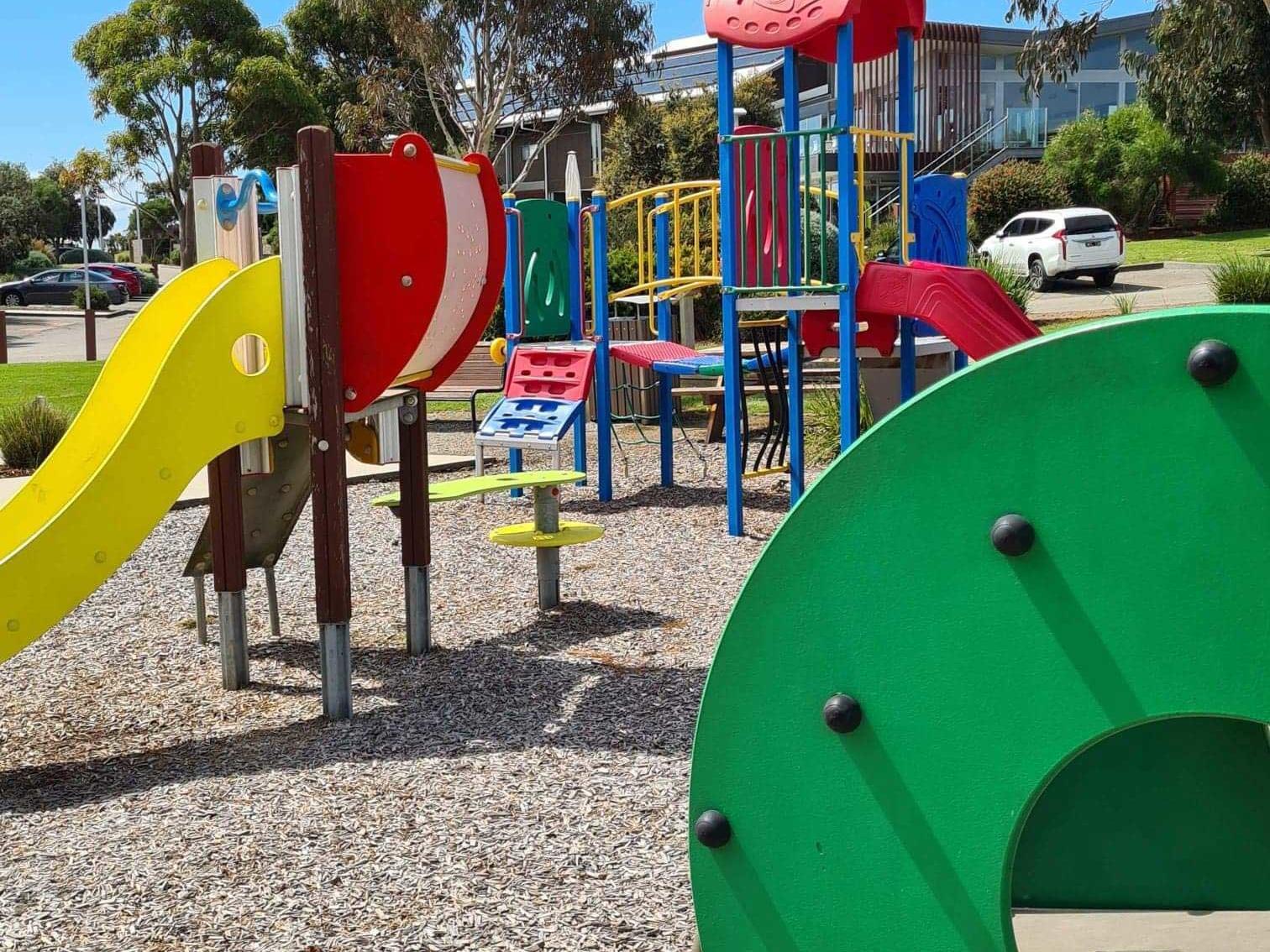 2 Slides in Children's playground at Silverwater Resort
