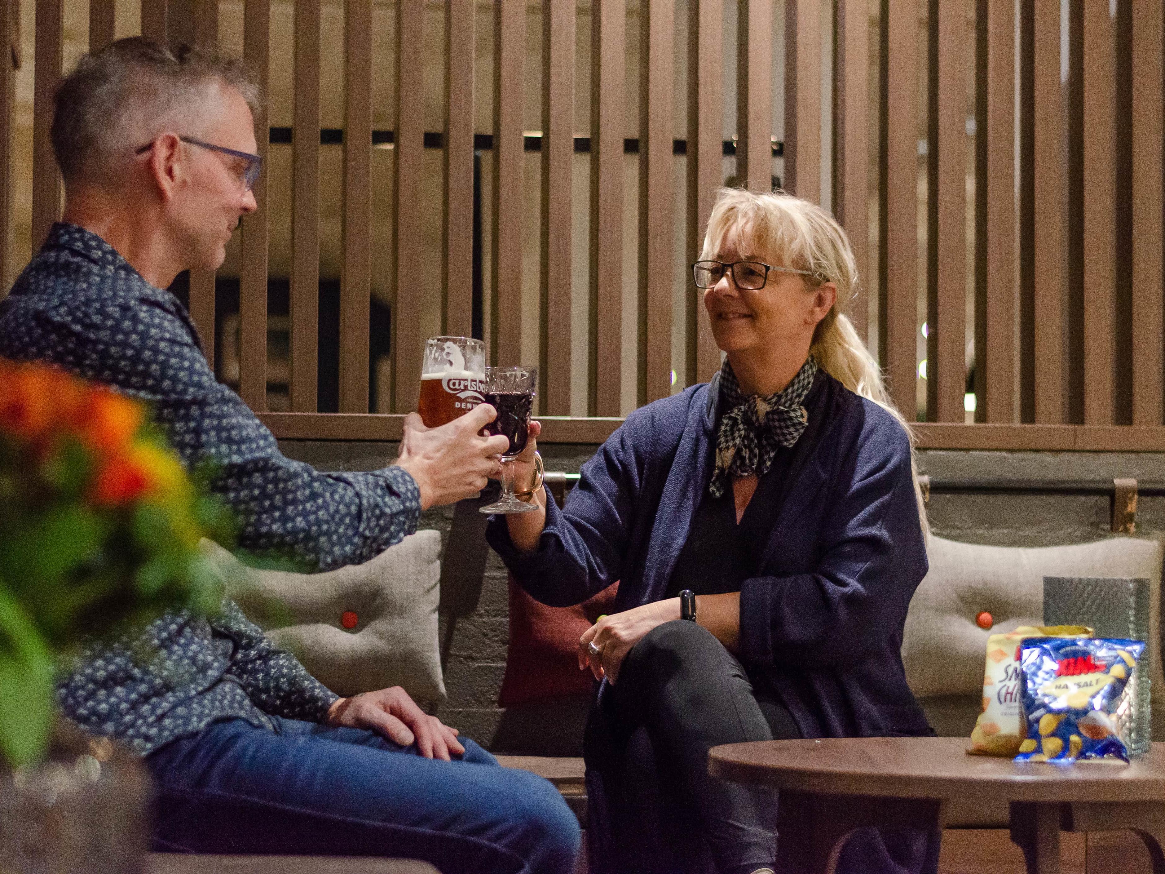 Lounge & Bar at Slotshotellet in Aalborg, Denmark