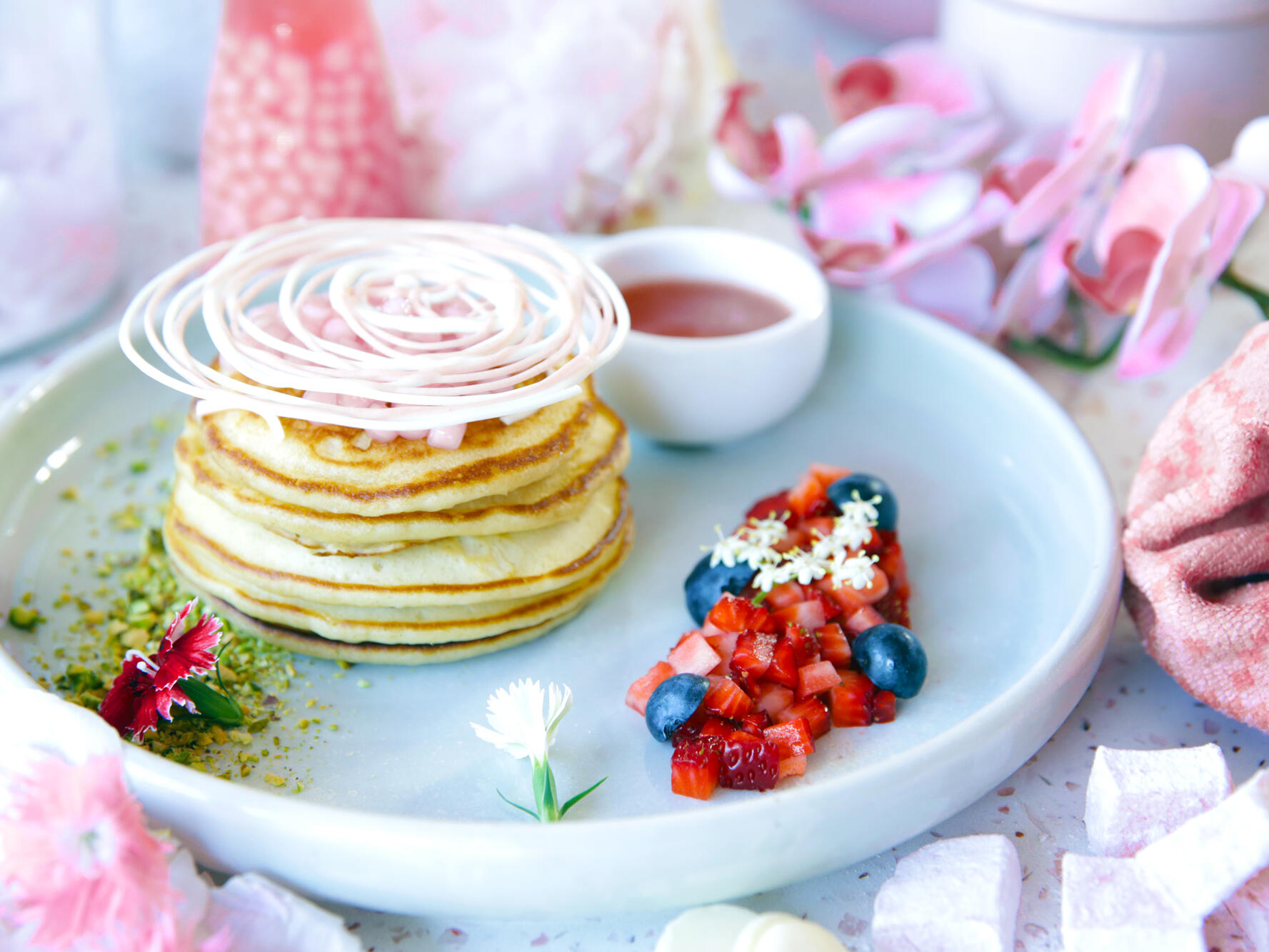 Delicious breakfast available at the Rose room
