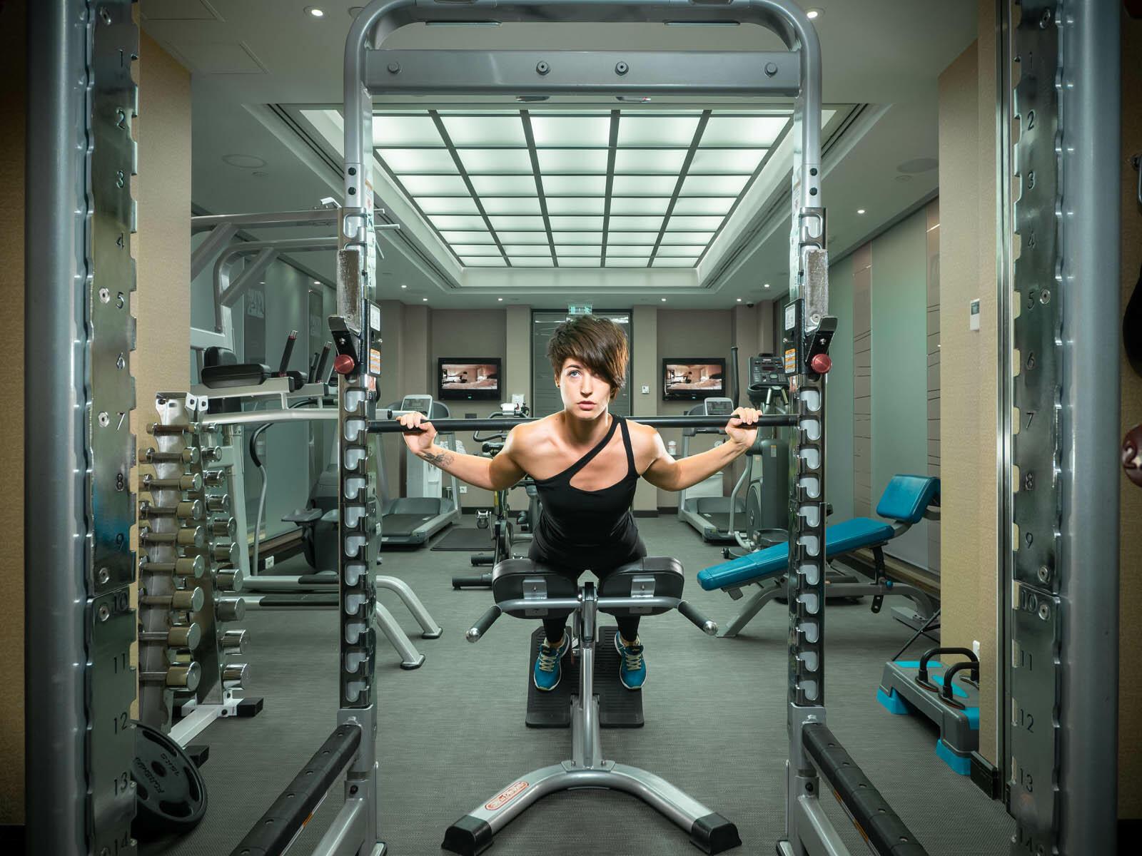Fitness center in  Intercontinental Kyiv hotel