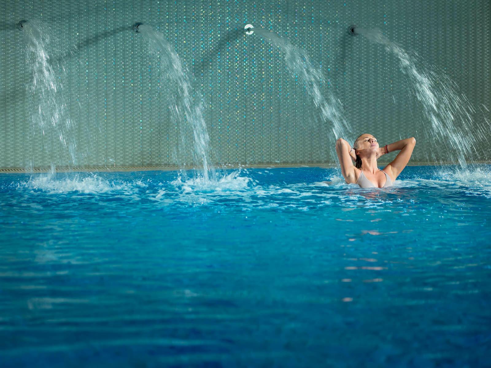 Swimming pool in  Intercontinental Kyiv hotel