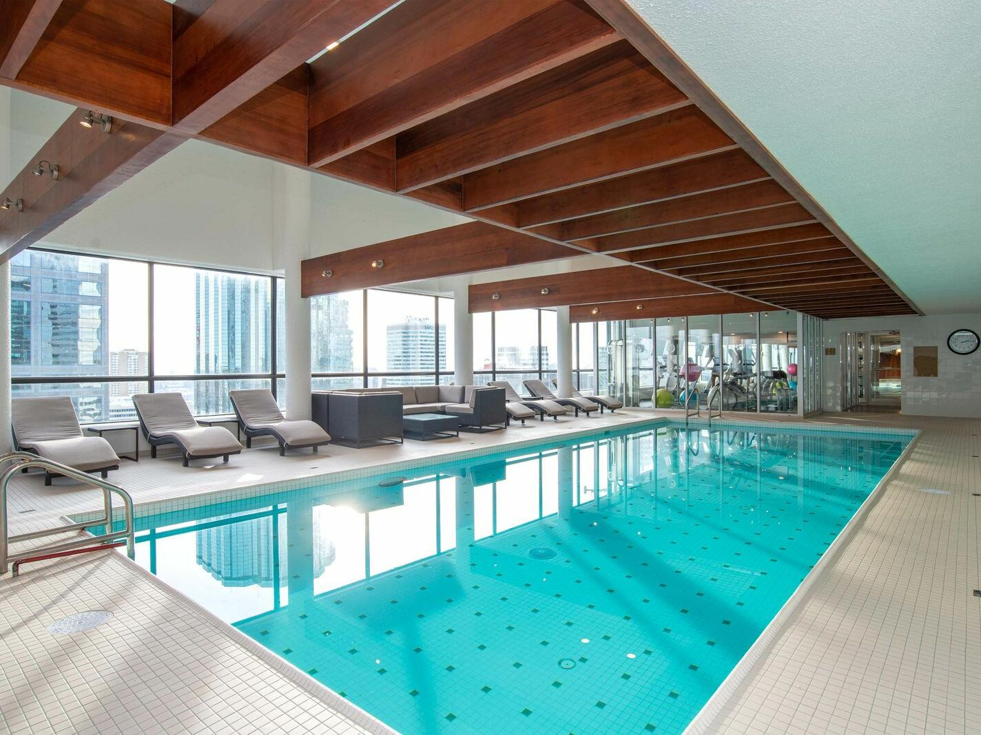 Indoor Rooftop Pool The Sutton Place Hotels