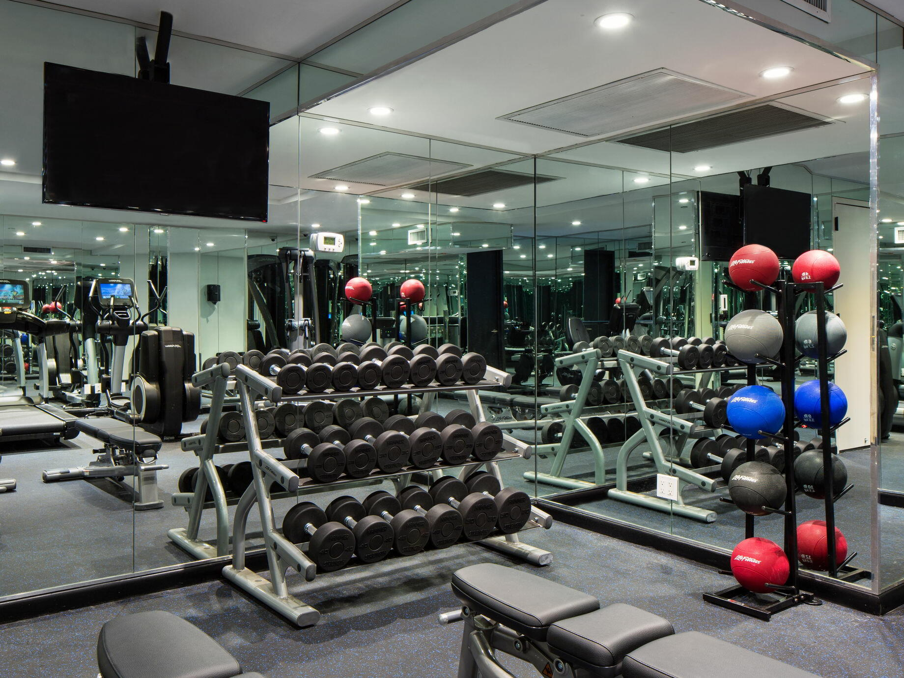 Weights & equipment in the gym at The Time New York