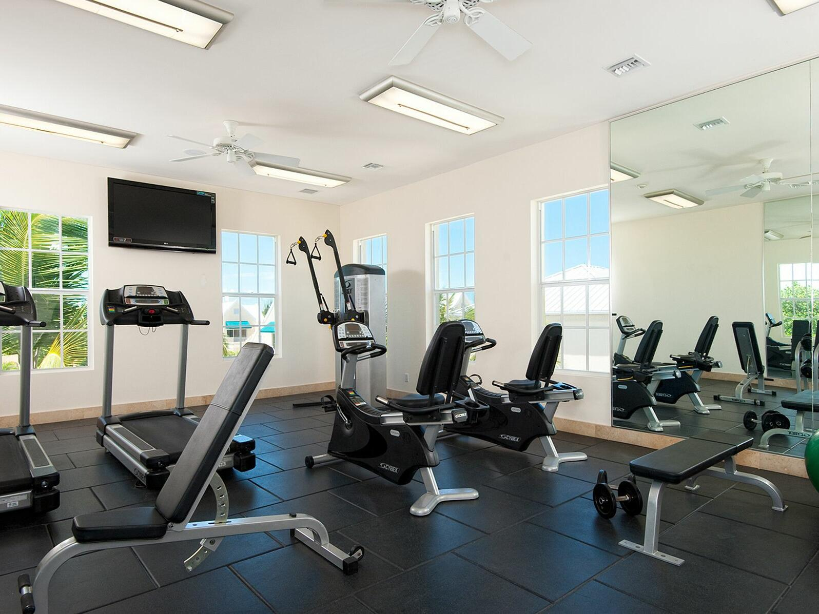 Interior view of Fitness Center at Windsong Resort On The Reef