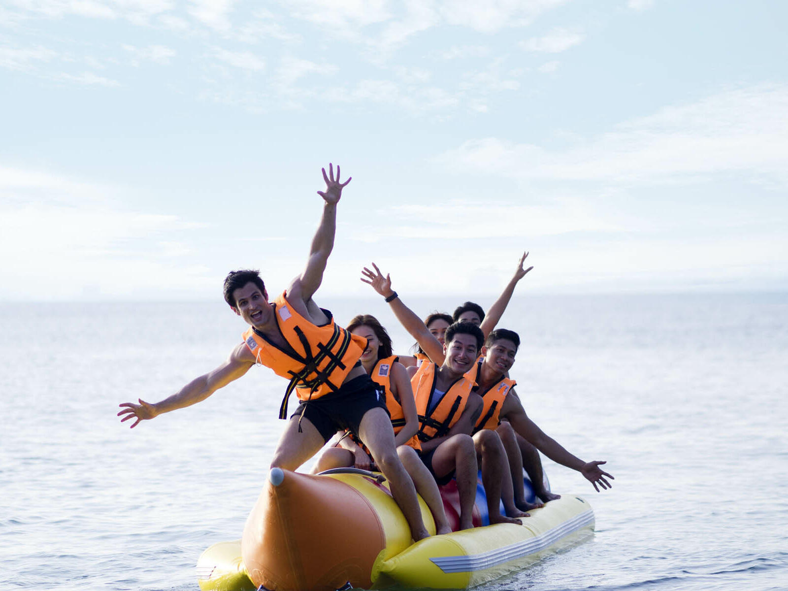 Few people on the banana boat ride