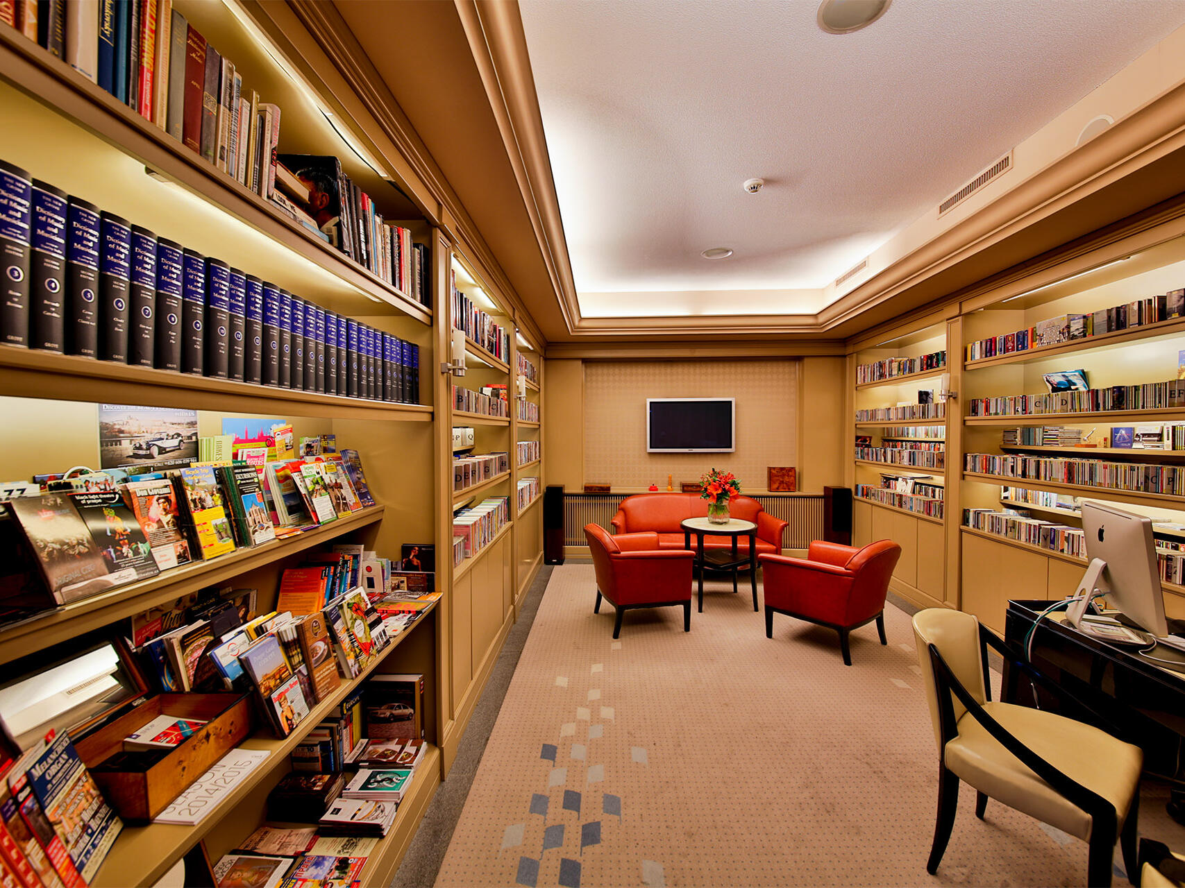 Music Library at Aria Hotel in Prague