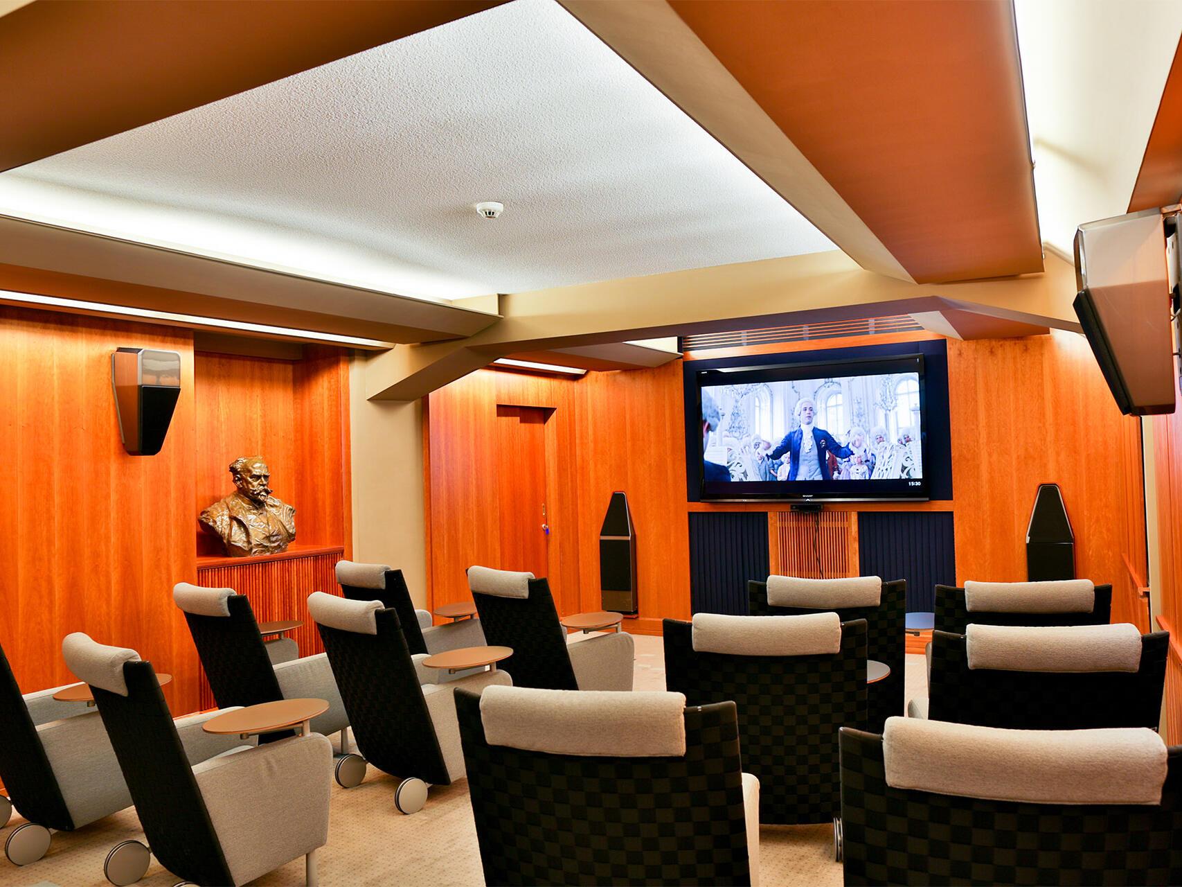 Private cinema at Aria Hotel in Prague