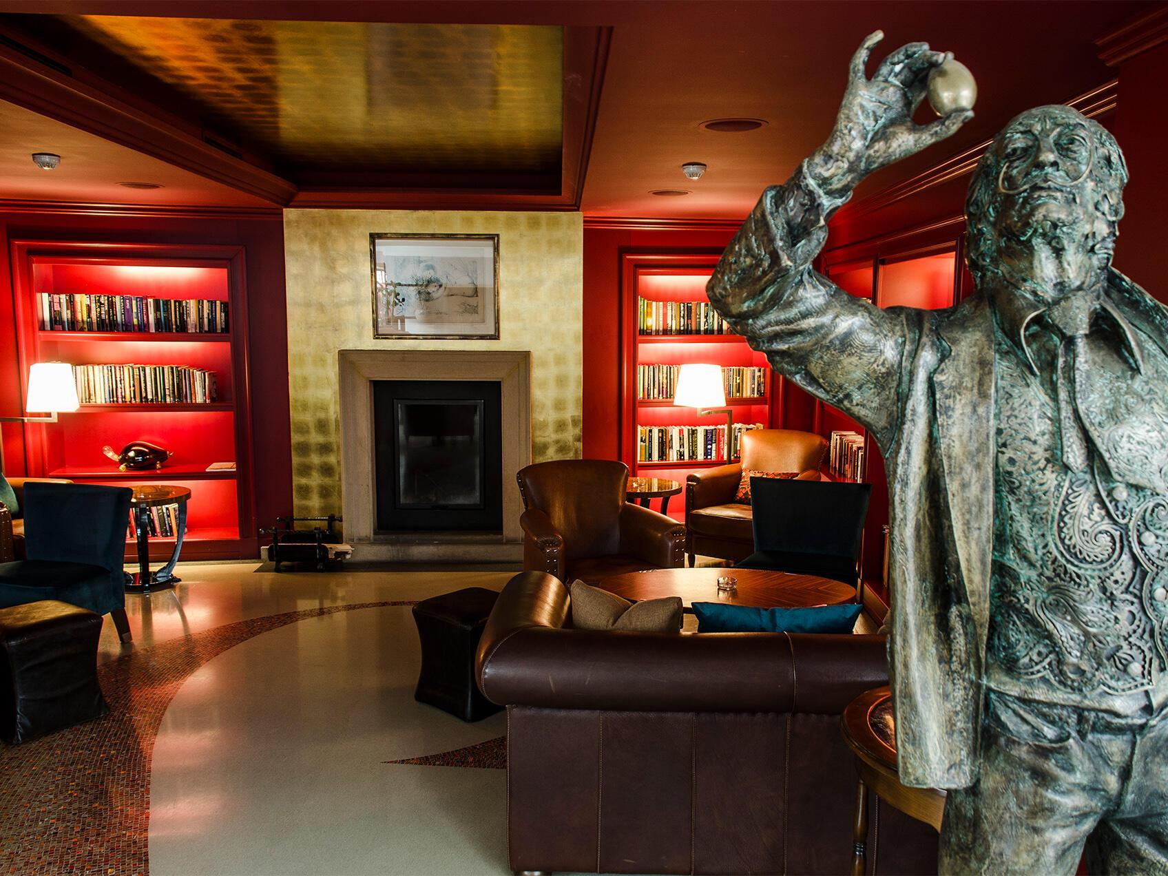 Fireplace Lounge at Aria Hotel in Prague